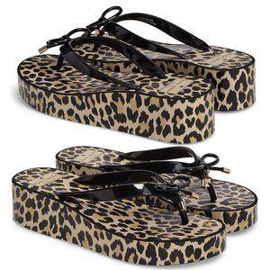 New Kate Spade Rhett Leopard Print Sandals Size 8